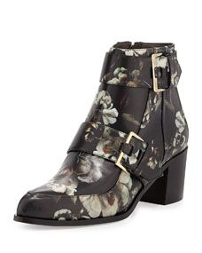 Jason Wu Floral Printed Leather Boot, Multi
