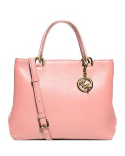 MICHAEL Michael Kors Anabelle Medium Top Zip Leather Tote Bag, Pale Pink