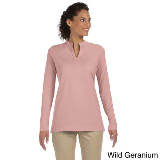 Womens Stretch Jersey Mandarin Collar Tunic   16228440