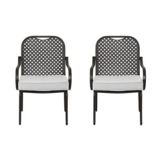Hampton Bay Fall River Patio Dining Chair with Cushion Insert (2 Pack) (Slipcovers Sold Separately) DY11034 D B