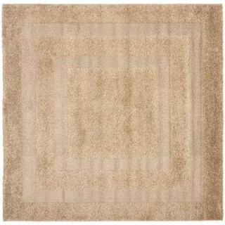 Safavieh Shadow Box Shag Beige 6 ft. 7 in. x 6 ft. 7 in. Area Rug SG454 1313 7SQ