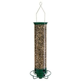 Droll Yankees 21 Long 4 Port Squirrel Proof Sunflower Feeder   Green