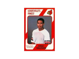 Autograph Warehouse 101731 Eric Vaughn Football Card Louisville 1989 Collegiate Collection No. 188