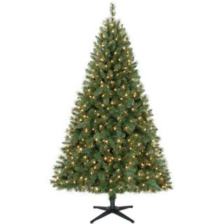Holiday Time Pre Lit 6.5' Windham Pine Artificial Christmas Tree, Clear Lights
