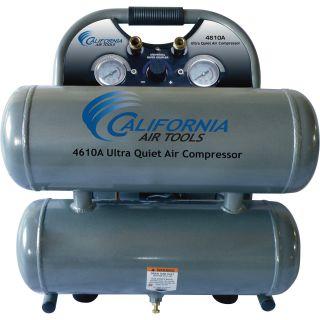 California Air Tools Ultra Quiet, Oil-Free Air Compressor — 1 HP, 4.6-Gallon, Model# 4610A  1   10 Gallon Air Compressors