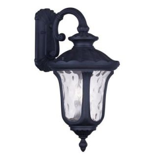 Filament Design Providence Wall Mount 3 Light Outdoor Black Incandescent Lantern CLI MEN7863 04
