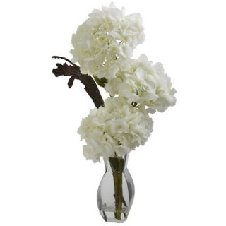Nearly Natural Triple Hydrangea with Vase