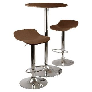 Winsome 3 Piece Kallie Pub Table Set with 2 Adjustable Stools