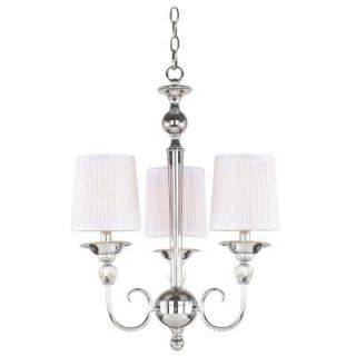 Hampton Bay Locksley Collection 3 Light Chrome Chandelier 20301 026