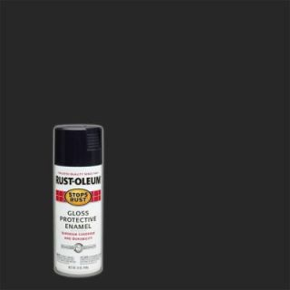 Rust Oleum Stops Rust 12 oz. Black Protective Enamel Gloss Spray Paint 7779830
