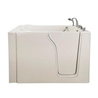 Ella Bariatric 4.58 ft. x 35 in. Hydrotherapy Massage Walk In Bathtub in White with Right Door/Drain 355503R