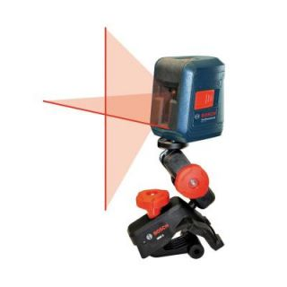 Bosch Self Leveling Cross Line Laser Level with Clamping Mount GLL 2