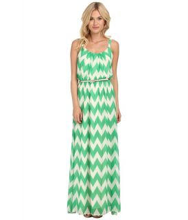 jessica howard sleeveless pleat neck belted blouson maxi dress