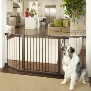 North States Deluxe Decor Wall Mount Matte Bronze Gate   16568608