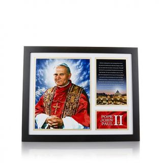 Franklin Mint Canonized Pope John Paul II Framed Photograph   7640963