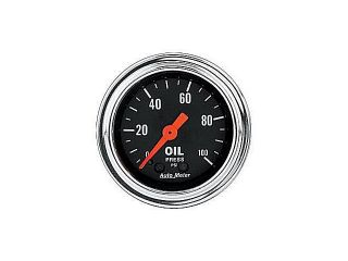 Auto Meter Traditional Chrome Mechanical Oil Pressure Gauge