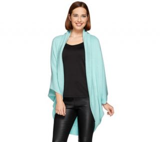 Layers by Lizden Marvelush Ribbed Shawl Collar Shrug —
