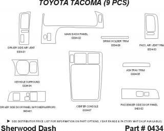1995, 1996, 1997 Toyota Tacoma Wood Dash Kits   Sherwood Innovations 0434 N50   Sherwood Innovations Dash Kits