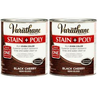 Varathane 1 Qt. Black Cherry Wood Stain and Polyurethane (2 Pack) DISCONTINUED 207098