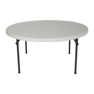 Lifetime 60 inch White Granite Round Commercial Folding Table (Set of