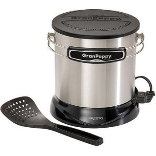Presto GranPappy Elite Electric 6 Cup Deep Fryer, Stainless Steel