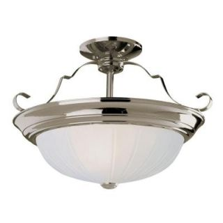 Bel Air Lighting Stewart 3 Light Brushed Nickel CFL Ceiling Semi Flush Mount Light PL 13215 BN