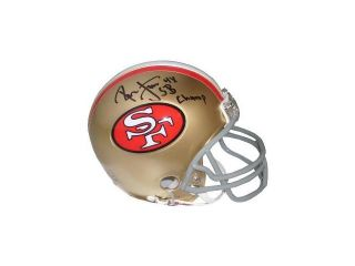 Ronnie Lott signed San Francisco 49ers Replica TB Mini Helmet 4X SB Champ
