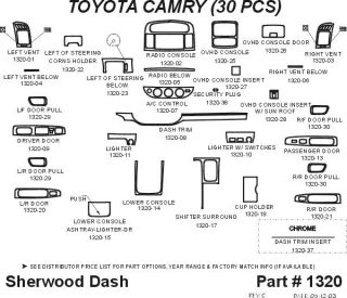 2002, 2003, 2004 Toyota Camry Wood Dash Kits   Sherwood Innovations 1320 N50   Sherwood Innovations Dash Kits