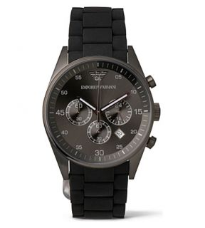 EMPORIO ARMANI   AR5889 Stainless steel and silicone watch