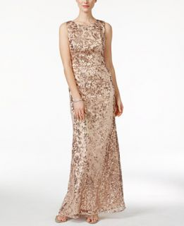 Vince Camuto Sleeveless Sequined Gown   Dresses   Women