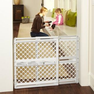 "North States Supergate Classic 26"" 42"", Versatile Baby Gate, Light Gray"