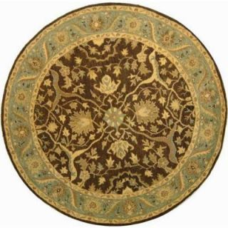Safavieh Antiquity Brown/Green 8 ft. x 8 ft. Round Area Rug AT14F 8R