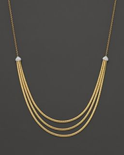 Marco Bicego 18K Yellow Gold Cairo Three Strand Necklace with Diamonds, 16.5""