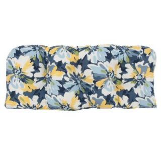 Hampton Bay Splash Floral Tufted Outdoor Bench Cushion DISCONTINUED 7426 01002200