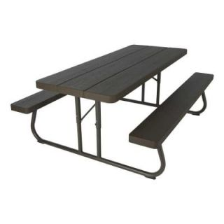 Lifetime Wood Grain Folding Picnic Table 60105