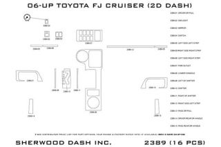 2010, 2011 Toyota FJ Cruiser Wood Dash Kits   Sherwood Innovations 2389 R   Sherwood Innovations Dash Kits