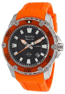 Men's Marine Star Automatic Orange Rubber Black Dial SS