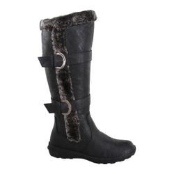 Womens Wild Diva Aura 43 Fur Boot Black Faux Leather
