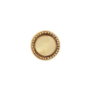 Copper Mountain Hardware 1 in Polished Brass Round Cabinet Knob