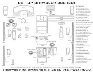 2008, 2009, 2010 Chrysler 300 Wood Dash Kits   Sherwood Innovations 2860 N50   Sherwood Innovations Dash Kits