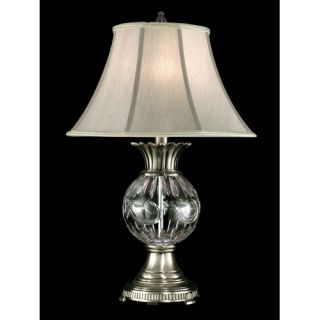 Dale Tiffany Crystal Granada 28 H Table Lamp with Bell Shade