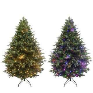 9 ft. Deluxe Balsam Fir EZ Power Artificial Christmas Tree with 900 Color Choice LED Lights and Remote Control 7270015 IP62HO