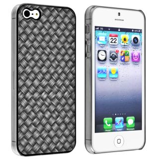 INSTEN Black Jelly TPU Phone Case/ Screen Protector for Apple iPhone 5