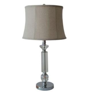 Fangio Lighting #5056 28.25 in. Chrome Mercury Glass and Metal Table Lamp 5056MEB