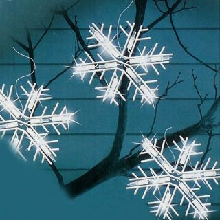 Christmas Central 50 Count Indoor/Outdoor Constant White LED Mini Christmas Icicle Lights