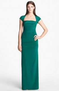 Nicole Miller Felicity Stretch Silk Gown