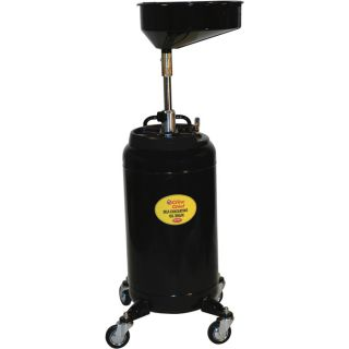 Crew Chief Self-Evacuating Portable Oil Drain with Auto Check — 25 Gallons, Model# JDI-25HDC  Up Right