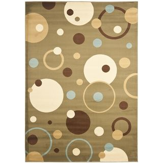 Safavieh Lyndhurst Collection Circ Ivory/ Multi Rug (8 x 11