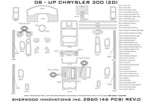 2010 Chrysler 300 Wood Dash Kits   Sherwood Innovations 2860 R   Sherwood Innovations Dash Kits