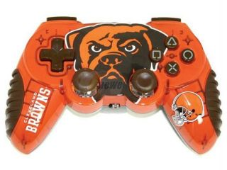 Mad Catz Officially Licensed Cleveland Browns NFL Wireless PS2 Controller
